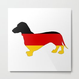 German Flag - Dachshund Metal Print