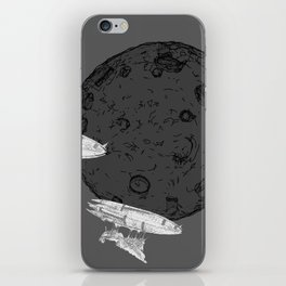 Around the Moon Grey and White Textured Version #5 iPhone Skin