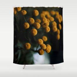mustard yellow flowers Shower Curtain