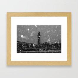 Snow  in Hoboken Framed Art Print
