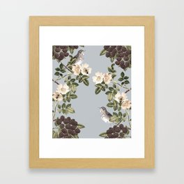 Birds and the Bees Gray Framed Art Print