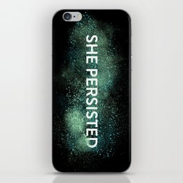 She Persisted - Turquoise Dust iPhone Skin
