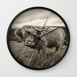 Moo Hair Wall Clock