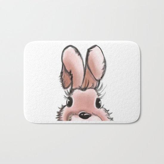 Pink rabbit Bath Mat