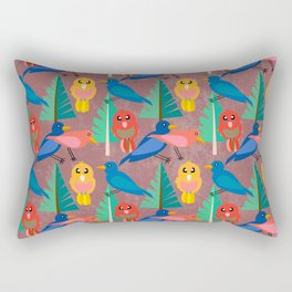 Birdies and Trees 2  (Be Cute and Wild) Rectangular Pillow