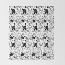 Oh French Bulldog Throw Blanket