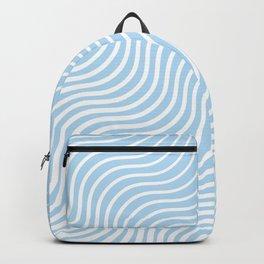 Whisker Pattern - Light Blue & White #285 Backpack