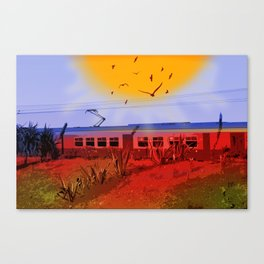 The Train Passed By Canvas Print