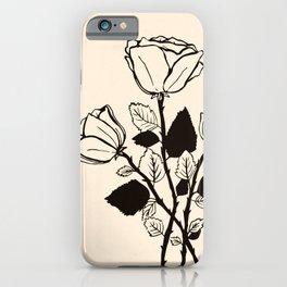 roses b&w iPhone Case