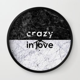 Crazy in Love Wall Clock