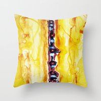 totem Throw Pillows featuring Totem by Jose Luis