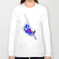 sword Long Sleeve T-shirts featuring Sword & Shield by Danyul