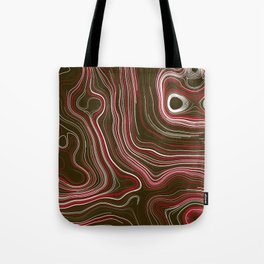 Abstract Colorful Line Wave Art Pattern Tote Bag