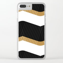 Crunchy Lines, No. 1 Clear iPhone Case