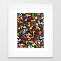 mosaic Framed Art Prints featuring Mosaic by Klara Acel