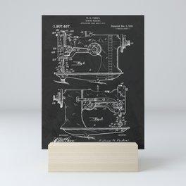 Sewing Machine 1916 Patent Print Mini Art Print