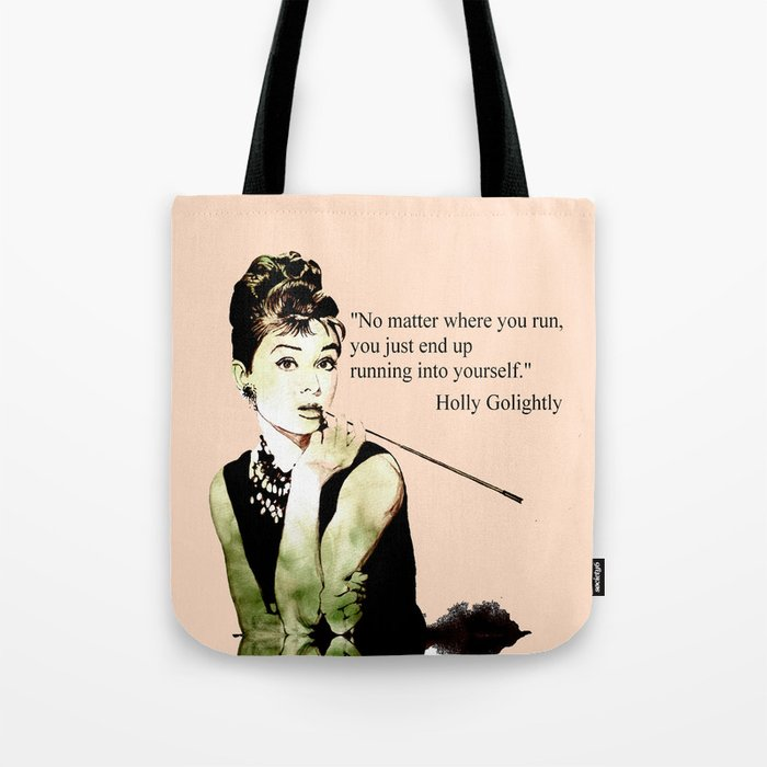 bf50963564 MISS GLOLIGHTLY - Breakfast at Tiffany´s - QUOTE Tote Bag by artito |  Society6