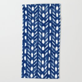 Shibori Lattice Beach Towel