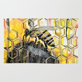 Honey Bee Rug