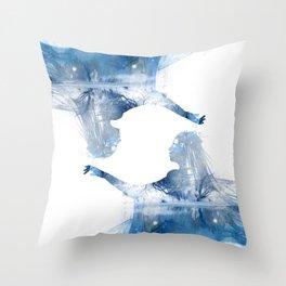 Winter Echo Throw Pillow