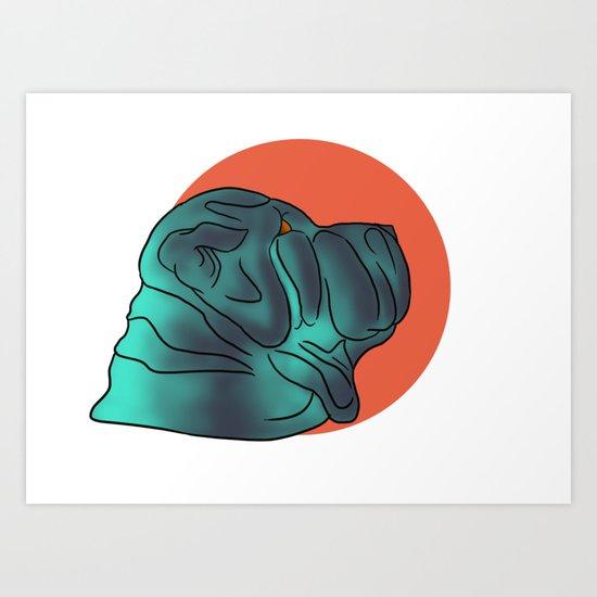 Lil Blue Art Print