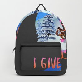Snowboard Steve - I give trees concussions Backpack
