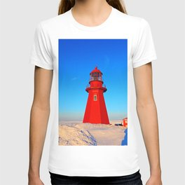 Lighthouse  and Frozen Sea T-shirt
