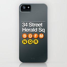 subway herald square sign iPhone Case