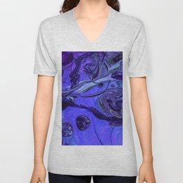 Purple Vortex Unisex V-Neck