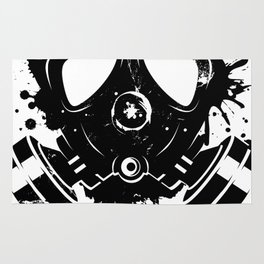 Gas mask graffiti Rug