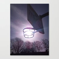 basketball Canvas Prints featuring Basketball by Peter Dunne