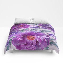 Violet and Purple Flowers Comforters