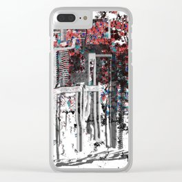 Colorful City Abstract Clear iPhone Case