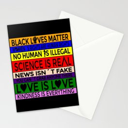 BLM-Science is Real 2 Stationery Cards