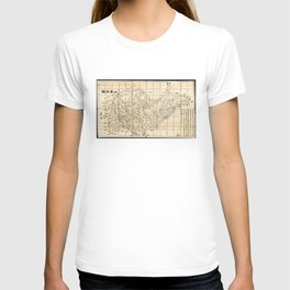 Map of Shandong Province, China (1864) T-shirt