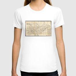 Map of Shandong Province, China (1864) T-shirt
