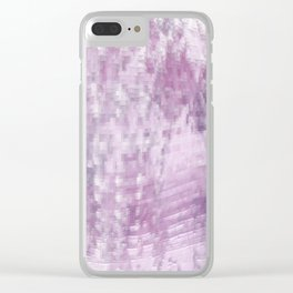 Pink Pattern 57 Clear iPhone Case