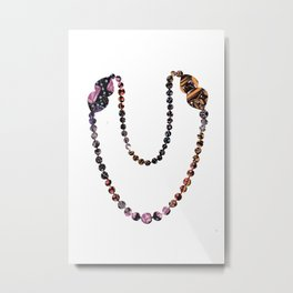 Pearl Necklace Metal Print