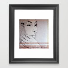 Takes strength to be gentle and kind Framed Art Print