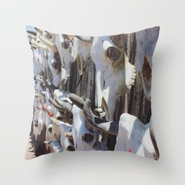 Salvage of Skulls Throw Pillow