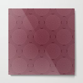 Rasberry Rosette Lace Metal Print