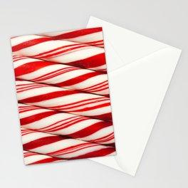 Candy Cane Pattern Stationery Cards