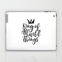 nursery wall art,king of all wild things,nursery decor,quote prints,kids gift,quote art,funny print Laptop & iPad Skin