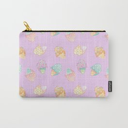 Pastel Melted Ice Cream (Lavender) Carry-All Pouch