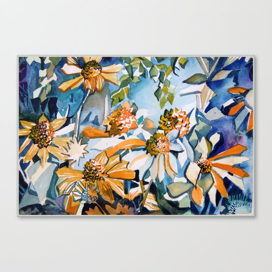 Carnival of Daisies Canvas Print