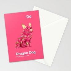 Dd - Dragon Dog // Half Dog, Half Dragon Fruit Stationery Cards