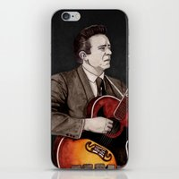 johnny cash iPhone & iPod Skins featuring Johnny Cash by Daniel Cash
