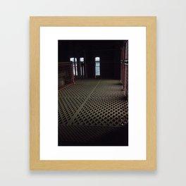Lattice work floor Framed Art Print
