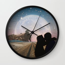 Traveler's kiss Wall Clock