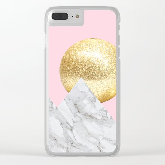 marble mountain Clear iPhone Case